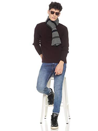 513 Men Acrylic Woolen Casual Winter Wear Striped Knitted Warm Premium Mufflers Grey 3 31reOQSeGrL. SL500