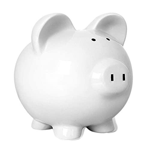 XHAEJ Hucha de cerámica creativa para ahorrar moneda, hucha de gran capacidad para niños, decoración del hogar para niños, bancos de dinero