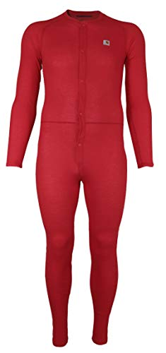 Carhartt Men's Size Force Classic Thermal Base Layer Union Suit, Red, 2X Large Tall