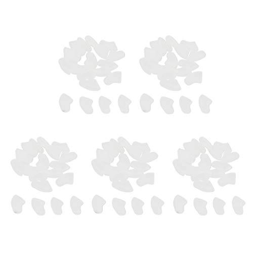 perfk 100 Stück weiche Krallenkappen für Hunde und Katzen - Klar, L