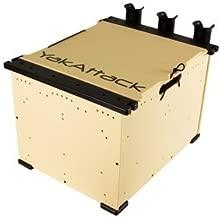 YakAttack BlackPak Kayak Angler Crate System Includes Lid, 3 Rod Holders | Fits Hobie, Jackson, Bonafide, Feelfree, Nucanoe, Ocean Kayak, Vibe| Free Waterman's SPF 50 Face Mask ($14.95 Value)