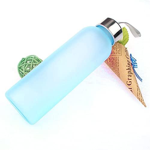 FAMYNGL Taza para Beber Nuevo Fuga Fuera Frutos TERMOS TERMOS Botella Gourde Sport Portable BOTEL DE Viaje CUPA DE Agua 600ml MI Botella (Capacity : 201 300ml, Color : Blue)
