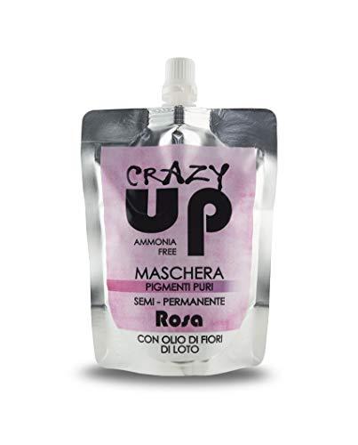 Crazy Up Mascarilla Colorante para el cabello Sin Amoniaco Semipermanente - Rosa - 200 ml