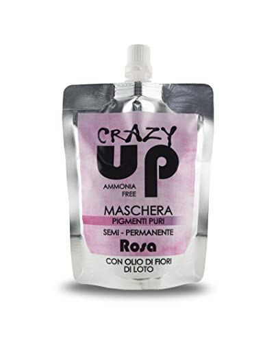 Crazy Up Mascarilla Colorante para el cabello Sin Amoniaco Semipermanente - Rosa - 200 ml