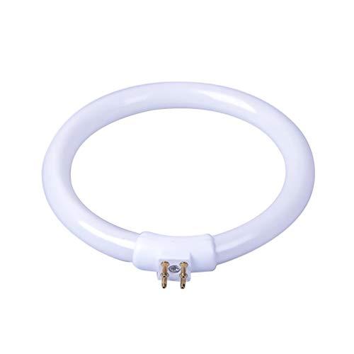 Bombilla de Tubo Fluorescente Circular T4, Tubo de luz de Anillo de Tubo de lámpara Redonda T4 de 11 W con 4 Pines (Universal)