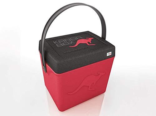 KÄNGABOX®Trip TP1310RT Rot - Hochwertige Thermobox mit Henkel und nützlich als Hocker. Hält warm, kalt und heiß. Ultraleicht, extrem stabil. Große Innenhöhe mit 31 cm. Inhalt 20 Liter. Material EPP.