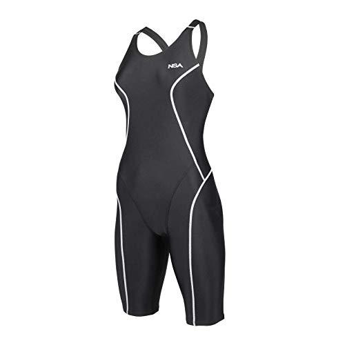 NSA Knielanger Schwimmanzug 5105 | Sportlicher Kneeskin für Schwimmer und Triathleten, Größe:2XL (38-40)
