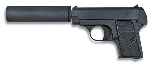 Tiendas LGP, Albainox 35555 Arma Airsoft, Pistola Aire Suave, con silenciador, Potencia 0,8 Julios, Munición Bolas PVC 6 mm.
