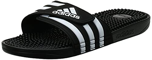 Adidas Adissage Zapatos de playa y piscina Unisex adulto, Negro (Negro 000), 43 EU (9 UK)