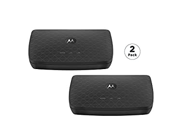 Motorola MoCA Adapter for Ethernet Over Coax Plug and Play Ultra Fast Speeds Boost Home Network for Better Streaming and Gaming  1 Gbps  2 Pack