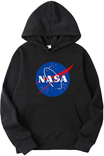 OLIPHEE Sudaderas con Capucha Impresión Logo de NASA Sudaderas Casual para Hombree c/Hei-M