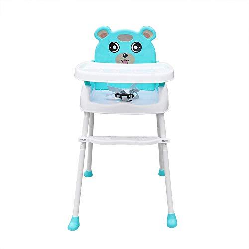 Yunrux 4 in 1 Klappstuhl Kinderstuhl Faltstuhl zusammenklappbar Kinder Hochstuhl mit Gurt, Tisch Verstellbar und Klappbar Grün