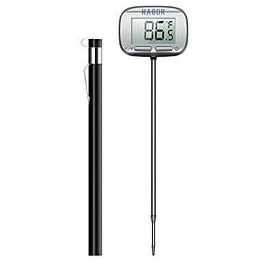 [Upgraded] Meat Thermometer, Habor Instant Read Thermometer, 4.7 inches Digital Cooking Thermometer with Larger LCD Display and Swiveling Head for Kitchen Food BBQ Grill Smoker Milk