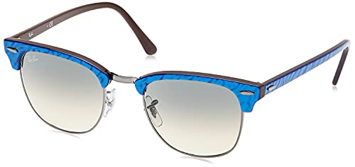 Ray-Ban 0RB3016 Lentes Oscuros, Wrinkled Blue ON Brown, 49 Unisex