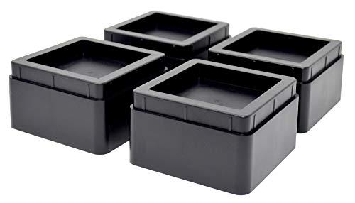Design61 Lot de 8 rehausseurs de meubles, rehausseurs de lit, rehausseurs de table, pieds d'éléphant empilables, 57 mm ou 107 mm
