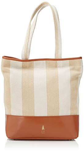 FLY LondonGone679flyMujerBolsos totesMarrón (Camel/Offwhite)12x34x32 Centimeters (W x H x L)