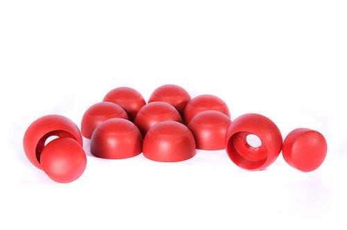 Abdeckkappe für Sechskantschrauben rot (10er Set) für Spielturm