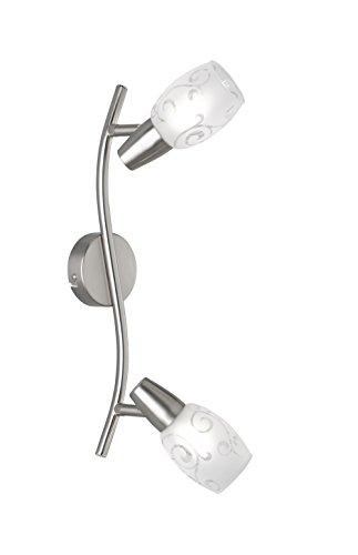 Reality Leuchten R80022007 Colmar Strahler, Metall, nickel matt, 8.0 x 39.0 x 19.0 cm