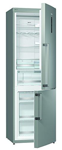 Gorenje NRC 6192 TX - Frigorifero da congelatore, classe A++, altezza 185 cm, 235 kWh/anno, 222 l, congelatore da 85 l, sbrinamento automatico NoFrost e acciaio INOX