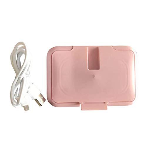Woorea Calentador de Toallitas Portátil USB para Bebé,Dispensador de Toallas Húmedas Térmicas y Calientes,Caja de Calefacción para Servilletas,Calentadores de Toallitas
