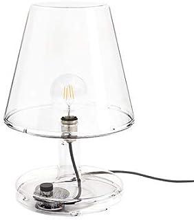 Fatboy® Trans-parents | Transparent | Grande lampe de table transparente | Rétro | Éclairage LED | Efficacité énergétique ...
