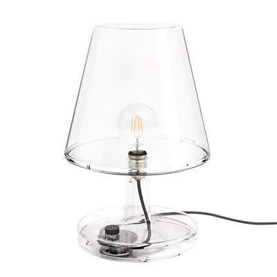 Fatboy® Trans-parents | Transparent | Grande lampe de table transparente | Rétro | Éclairage LED | Efficacité énergétique | Réglable | Multifonctions