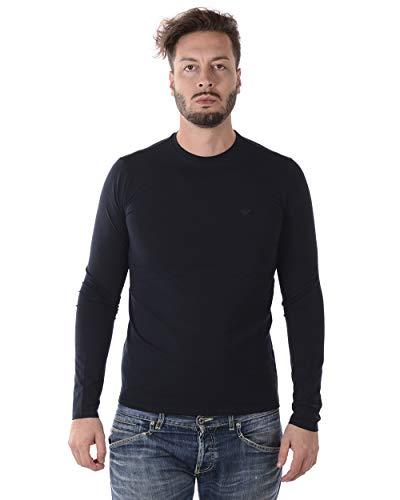 Emporio Armani Long Sleeve Logo Top XXL NAVY