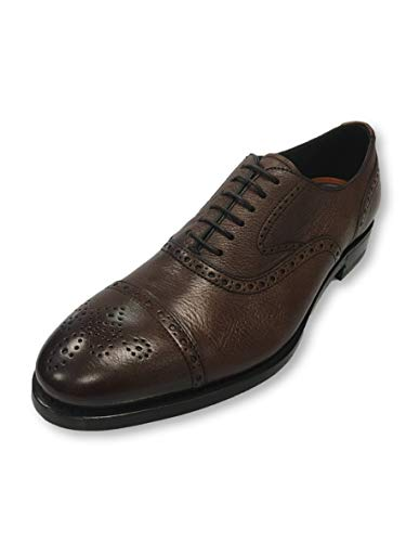 Henderson Baracco brogue shoes in brown leather 7