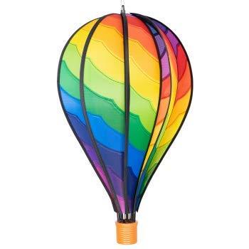 CIM Windspiel - Heißluftballon Spiral - wetterbeständig - Ballon:Ø28cm x 48cm, Korb: 4.5cm x 4cm - kugelgelagerte Aufhängung (Spiral)