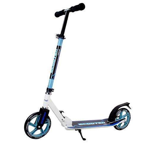 Scooter para niños adultos 2 ruedas City Commuter Kick Scooter plegable Freestyle Manillar ajustable Scooter para niños de 5 años en adelante Niños Adolescentes Niñas Niños,110 lb Límite de peso/Azul