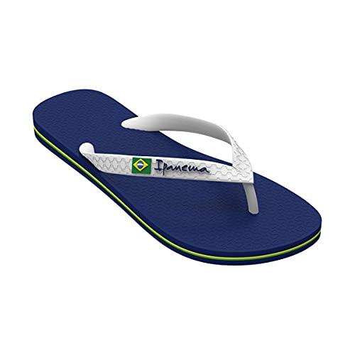 Chanclas de verano para mujer Ipanema Class Brasil II, fabricadas en flexpand de un material 100% vegano y reciclable, ideal para la playa, la piscina y para los paseos de verano - azul/blanco 41/42