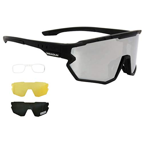 Sports Sunglasses Protection Cycling Glasses Polarized UV400 for Cycling, Baseball,Fishing, Ski Running,Golf (silver)