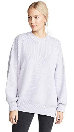 Free People Women's Easy Street Tunic Sweater, Lavender, Purple, Large