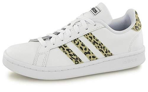 adidas Grand Court, Scarpe da Tennis Donna, Ftwbla/Sabana/Negbás, 39 1/3 EU