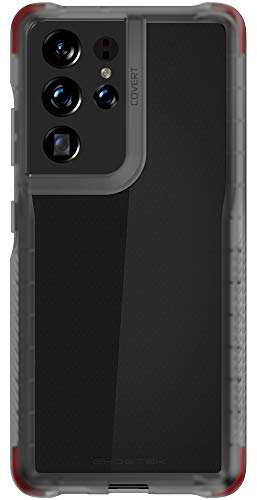 Ghostek Covert Clear Galaxy S21 Smoke Case with Grip, Raised Bezel Screen Protection, Lifted Camera Lens Protective Bumper, Durable Slim Fit Design for 2021 Galaxy S21 5G (6.2 Inch) (Phantom Smoke)