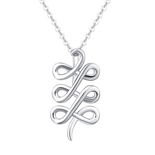 FANCIME Mother's Day Gift | Sterling Silver Infinity Love Celtic Knot Pendant Necklace High Polished Endless Fine Dainty Jewelry Gifts for Mom Women Teen Girls,16+ 2' Extender