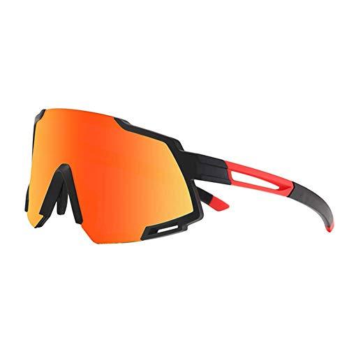 LYLTJ68 Gafas De Ciclismo Polarizadas Deportes Al Aire Libre Ciclismo Gafas De Conducción A Prueba De Viento Y Protección para Los Ojos,Blackred