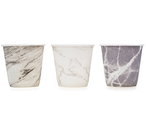 Prince & Spring Paper Bathroom Cups, Multicolor Marble Variety 3 oz x