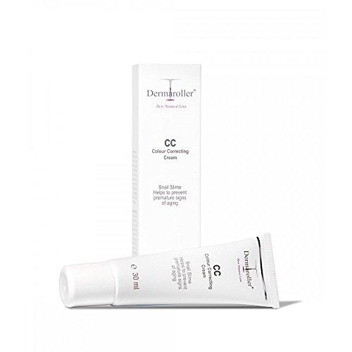 Dermaroller CC Cream Colour Correcting Cream abdeckende Creme, 1er Pack (1 x 30 ml) - Anti-Age Effekt - Mattierende Wirkung, gegen Rötungen & Unreinheiten