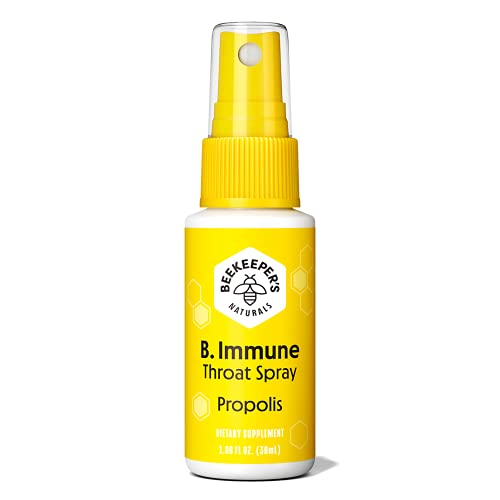Beekeeper's Naturals Spray 95% Bee Propolis Extract-Natural Immune Support & Sore Throat Relief Antioxidants, Keto, Paleo, Gluten-Free, 1.06 Fl Oz (Pack of 1), White
