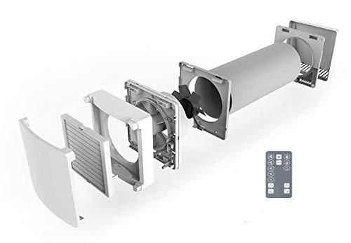 SUEDWIND: Ambientika WIRELESS- recuperatore di calore (93%) monostanza, 160 mm, con telecomando. 60m³/h, ventilazione meccanica controllata