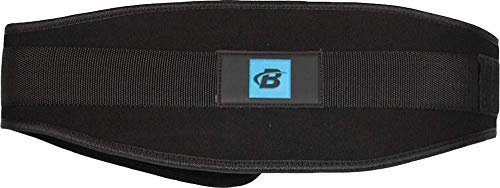 Bodybuilding.com Accessories Contour Nylon Lifting Belt (Medium, Black)