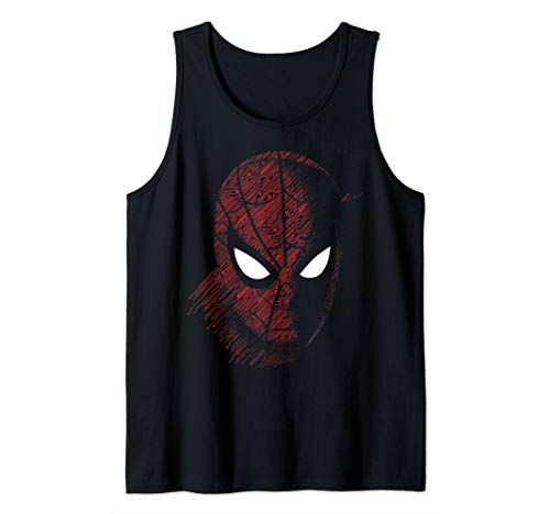 Marvel Spider-Man Far From Home Tech Build-Up Fill Portrait Tank Top