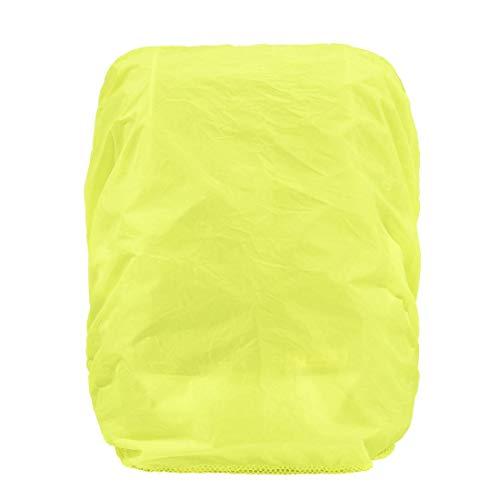 Hama Regenschutz- und Sicherheitshülle für Schulranzen und Rucksäcke (Regenhüllle in auffälliger Signalfarbe, mit Gummizug, mit Aufbewahrungstasche) gelb