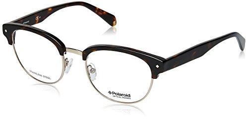 Polaroid PLD D331 Gafas, Havane Foncé - Argent, 50 para Hombre