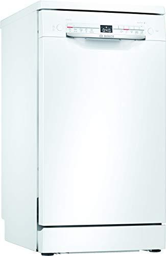 Bosch SPS2IKW10E Serie 2 Freistehender Geschirrspüler / A+ / 45 cm / Weiß / 222 kWh/Jahr / 9 MGD / SilencePlus / Extra Trocknen / VarioBesteckkorb / Home Connect