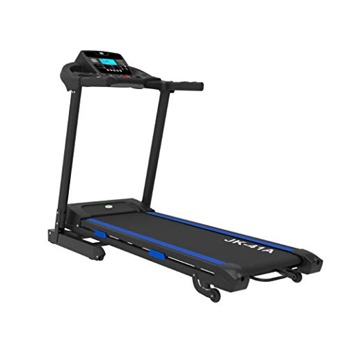 Fit4home Foldable Electric Treadmill Walking Running Machine For Home | Bluetooth MP3, 2.0 HP, LED Monitor, USB, Speakers | JK41A Black