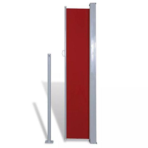 yorten Toldo Lateral Retráctil de Jardín o Terraza Acero Soporte 180x300 cm Rojo