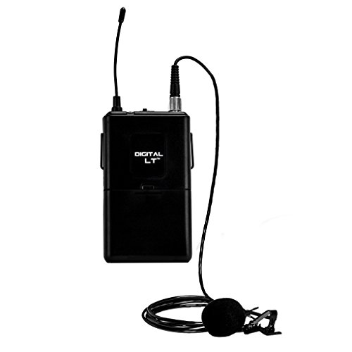 Digital Bodypack Transmitter Channel 11 (921.80 MHz) and LM-14 Omnidirectional Lapel Microphone Compatible with Nady DW-11 and DW-22
