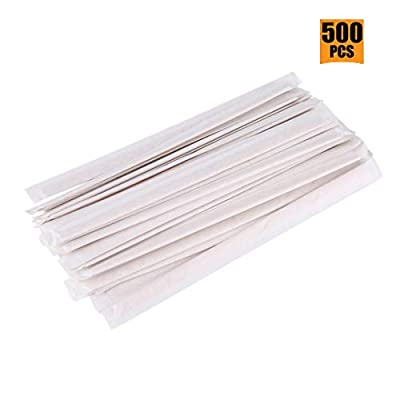 Natural Wooden Coffee Stir Sticks, Disposable Tea Stirrers(500Pcs)-Separately Wrapped/Clean and Healthy